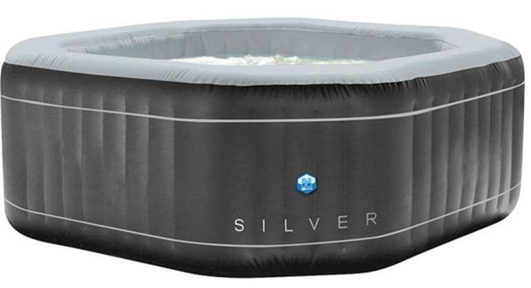 Netspa achteckiger aufblasbarer Whirlpool für 5 Personen in Silber für 418,95€ inkl. Versand (statt 599€)