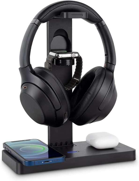Aircover 4-in-1 Kopfhörerständer mit kabellosem Ladegerät für 31,35€ inkl. Versand (statt 49€)
