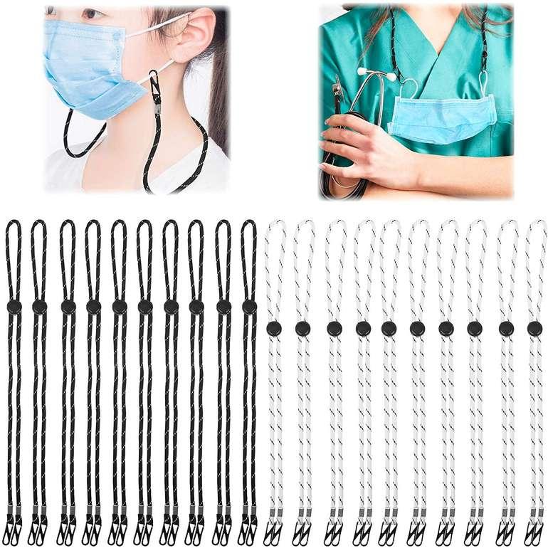 Safetyon verstellbare Lanyards für Mund-Nasen-Masken (20 Stück) für 7,99€ inkl. Prime Versand