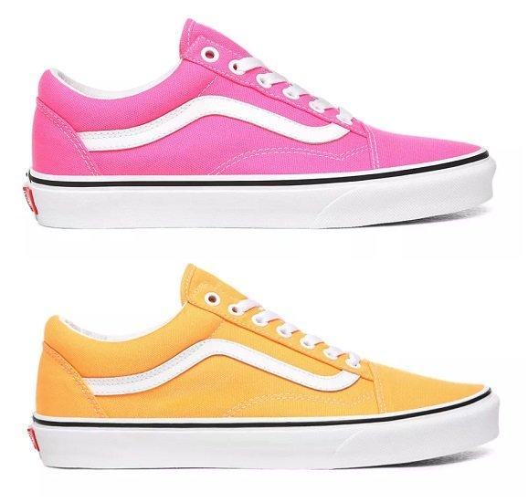Vans Neon Old Skool Schuhe in Pink, Orange, Grün oder Gelb für je nur 35,49€ (statt 50€)