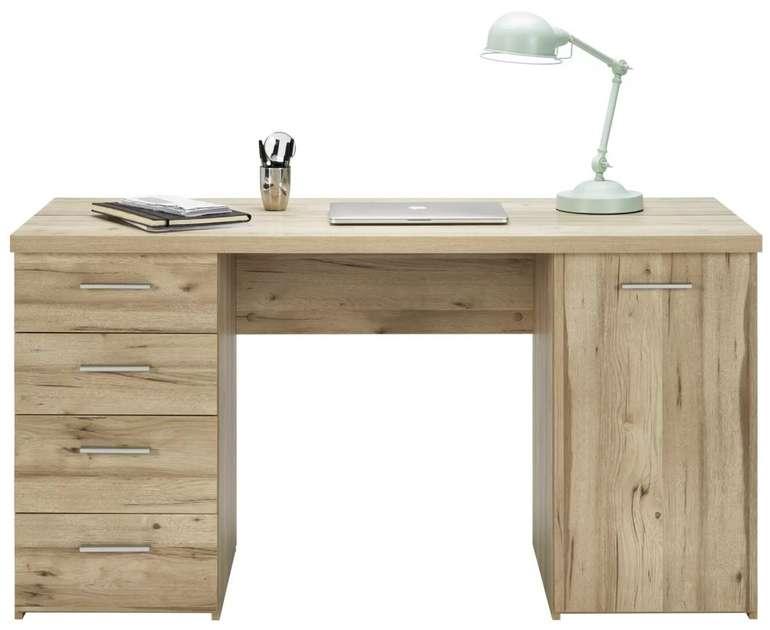 Mömax Schreibtisch in Eichefarben (145 x 76,3 x 60 cm) für 127,25€ inkl. Versand (statt 169€)