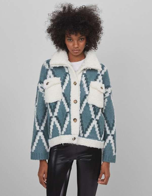 Bershka Damen Jacke aus Lammfellimitat für 19,54€ inkl. Versand (statt 60€)