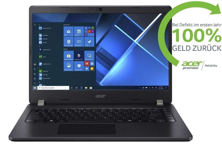 Acer TravelMate P2 - 14 Zoll Notebook mit Intel Core i7-10510U, 8GB RAM, 512GB SSD, Full-HD, Windows 10 Pro für 665€