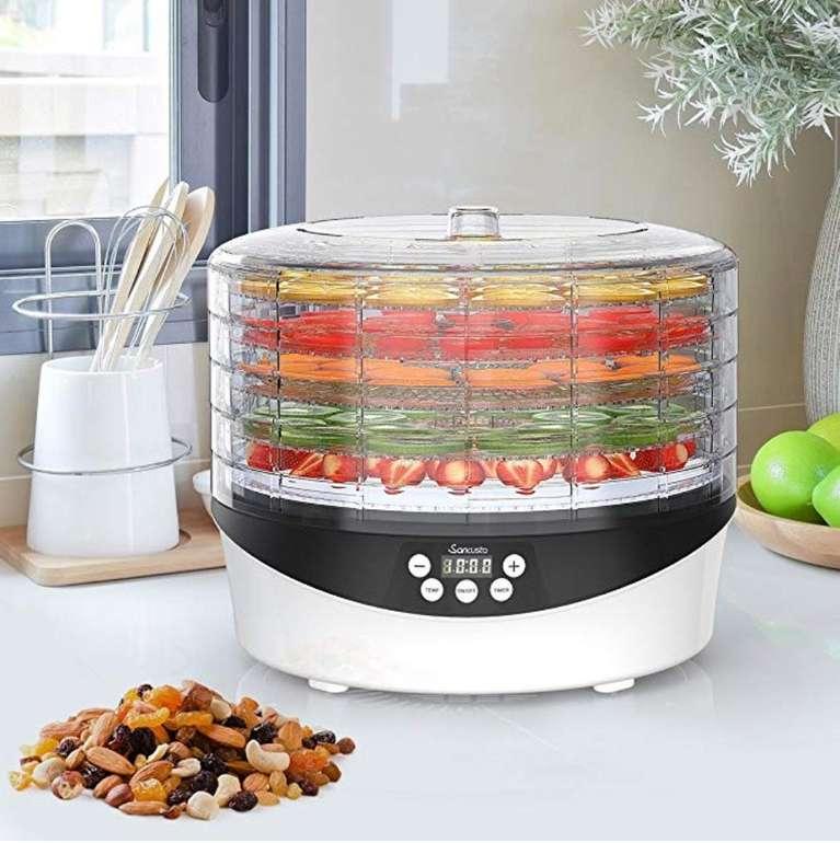 Sancusto Dörrautomat für Obst, Gemüse und Fleisch mit 72 Stunden-Timer und Thermostat für 19,52€