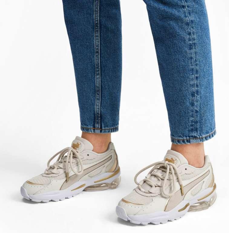 Puma Cell Stellar Soft Damen Sneaker in weiß-gold für 53,94€ inkl. Versand (statt 70€)