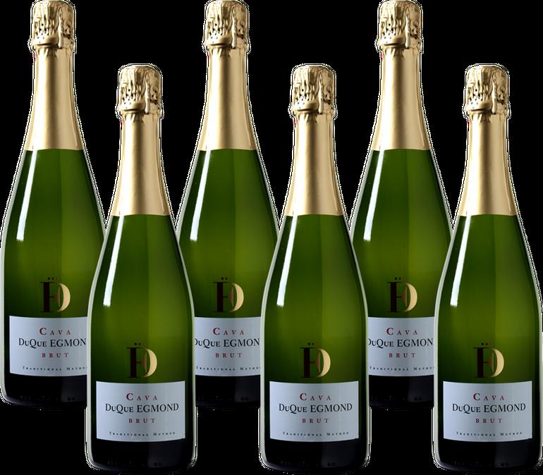 6er-Paket DuQue Egmond Cava Brut - Penedés DO Schaumwein für 41,89€ inkl. VSK