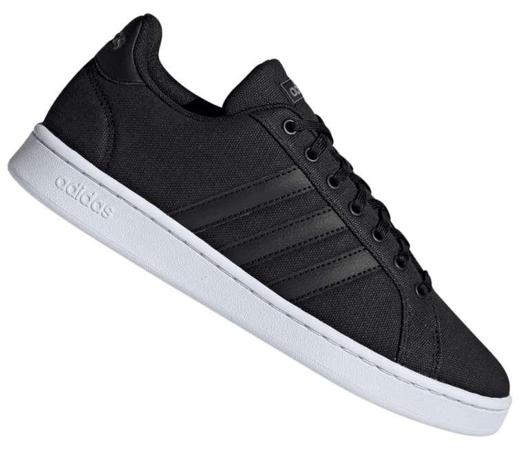 Adidas Grand Court Herren Freizeitschuh in schwarz für 39,95€ inkl. Versand (statt 52€)