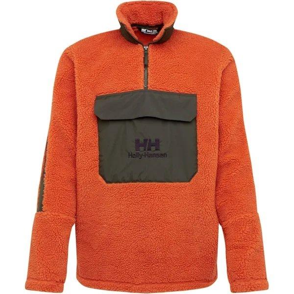 Helly Hansen Sweatshirt 'YU 1/2 Zip Pile' in khaki / orange für 23,96€ inkl. Versand (statt 41€)
