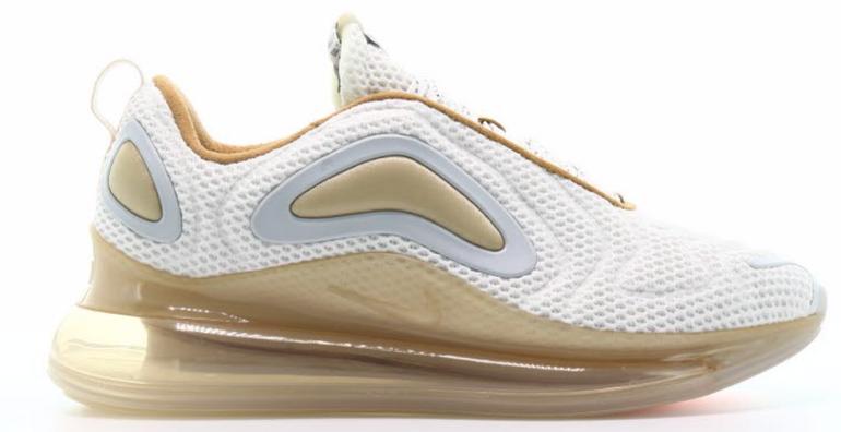 Nike Air Max 720 Herren Sneaker in white/pale für 99,95€ (statt 120€)