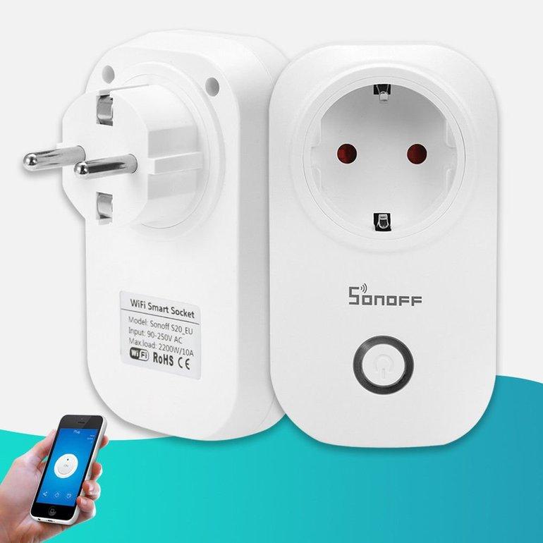 4er-Pack Sonoff S20 WiFi Remote Steckdosen für 37,99€ inkl. Versand