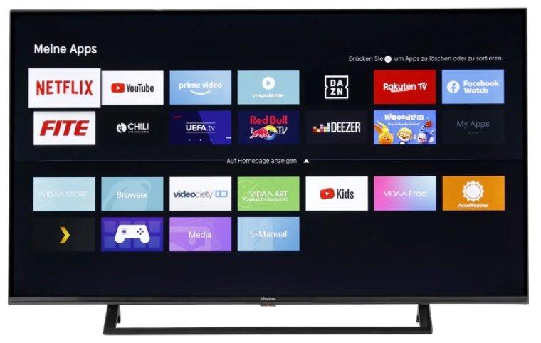 Hisense 43AE7200F - 43 Zoll 4K UHD LED Smart TV mit Amazon Alexa und DTS Virtual:X für 279€ (statt 339€)