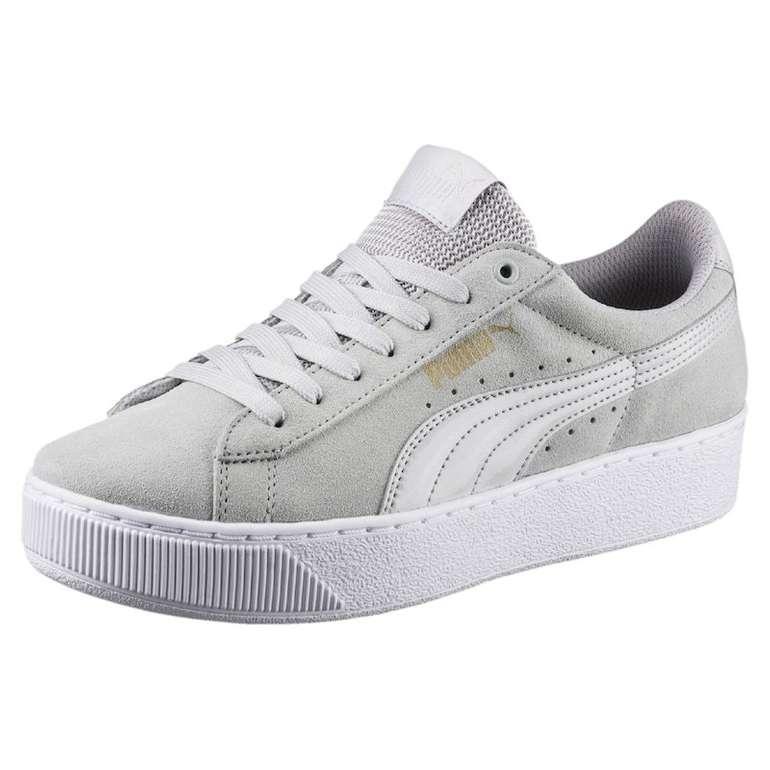 Puma Damen Sneaker Vikky Platform in hellgrau/weiß für 21,25€ inkl. VSK (statt 45€)