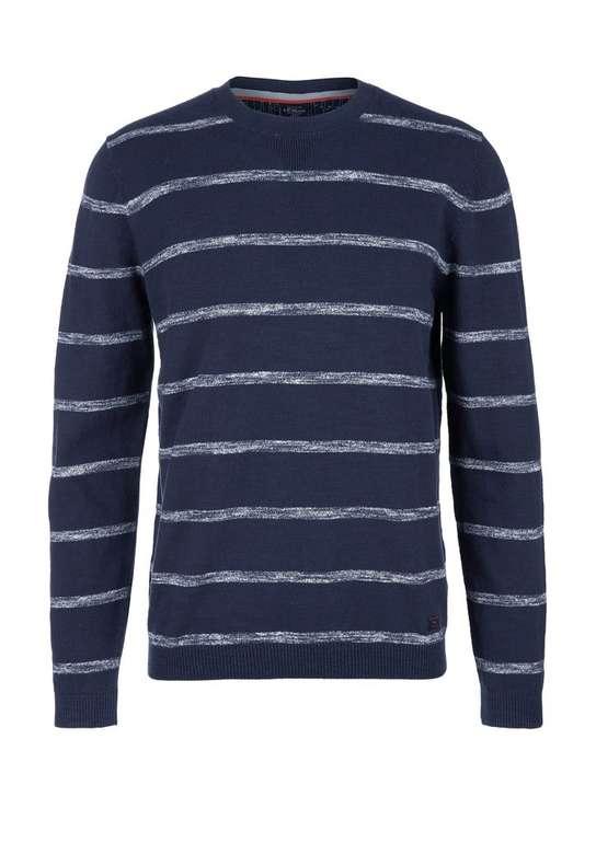 s.Oliver Strickjersey Herren Pullover in Blau für 19,89€ (statt 30€)
