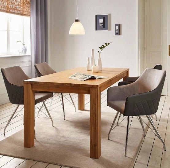 Zandiara Massivholz-Esstisch (180 x 76 x 90cm) aus Akazie für 266,11€ (statt 340€)