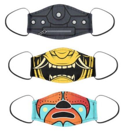 3er Pack Mundschutzmasken (verschiedene Designs) für 18,49€ (statt 23€)