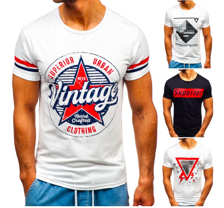 Bolf Herren T-Shirt Tee - Kurzarm & Rundhals für je 8,95€ inkl. Versand