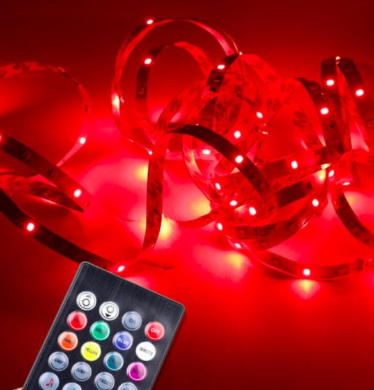 5m LED Stripes für 3,99€ + Fernbedienung & Netzteil für 7,59€ - 2x 5m nur 9,99€