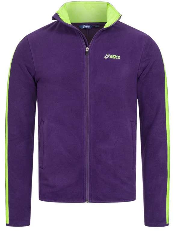 Asics Full Zip Herren Polar Fleece Jacke in lila für 23,94€ inkl. Versand (statt 30€)