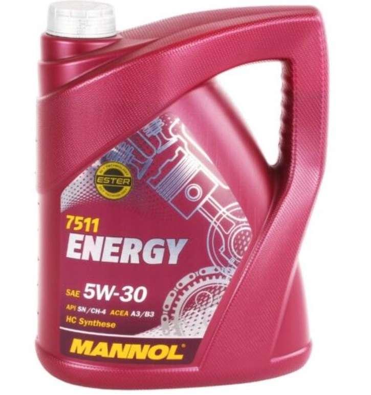 5 Liter Mannol Energy 5W-30 Motoröl (7511) für 17,09€ inkl. Versand (statt 24€)