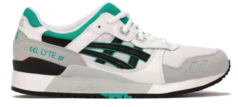 Asics Gel-Lyte III F100 Sneaker in grau / grün / weiss für 71,97€ inkl. Versand (statt 84€)