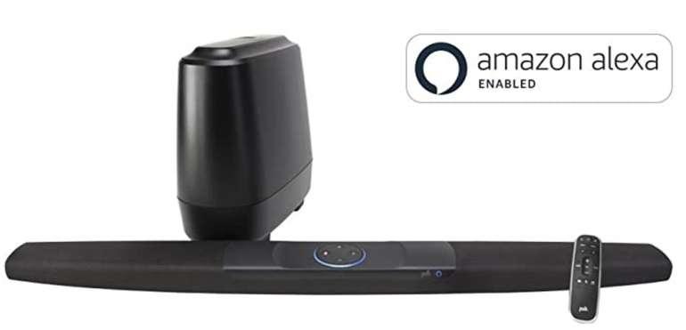 Polk Audio Command Bar Soundbar mit Subwoofer (260 Watt, Alexa, HDMI ARC, 4K, Multiroom, DTS) für 193,92€