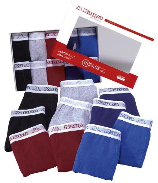 10er-Pack Kappa Boxershorts für 26,25€ inkl. Versand (statt 45€) - nur in Größe L und XXXL!