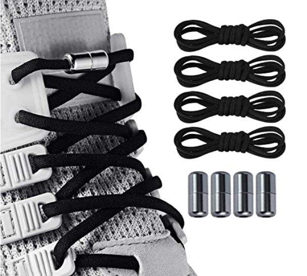 Dorzu 2 Paar elastische Schnürsenkel (ohne binden) in Schwarz oder Weiß für 4,04€ inkl. Prime Versand (statt 9€)