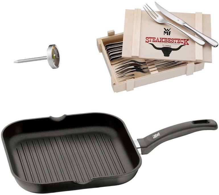 WMF Steakbesteck + Grillpfanne + Steakthermometer für 69€ inkl. Versand