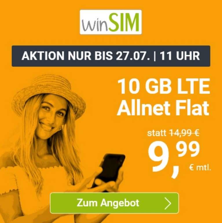 Top! winSIM (10GB LTE, Allnet Flat) nur 9,99€ (!) mtl. (5GB für 6,99€ und 20GB nur 19,99€)