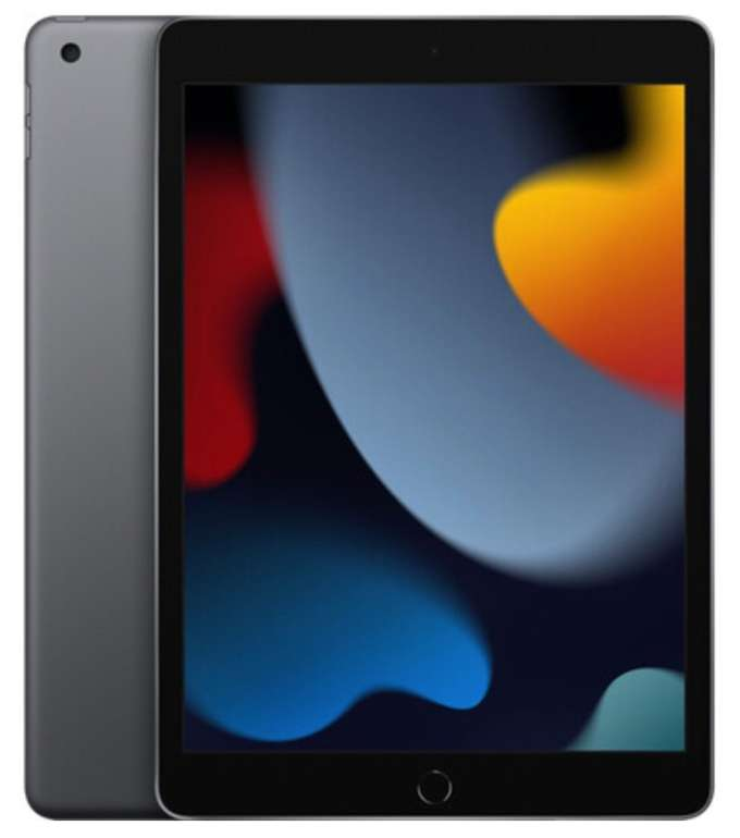 Apple iPad 2021 (9. Generation) mit 64GB Speicher und WiFi für 349,95€ inkl. Versand (statt 367€)