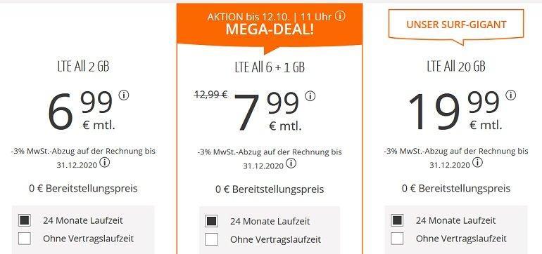 Sim.de o2 AllNet-Flat mit 7GB LTE Datenvolumen 2