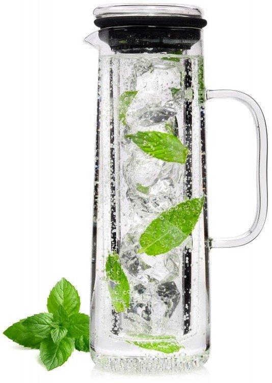 Karaffe aus Glas (0,7 Liter) mit Eiswürfelbehälter für 9,99€ inkl. Versand