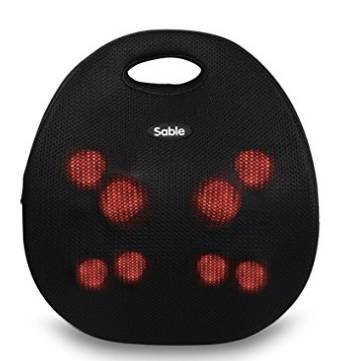 Sable 3D Shiatsu Rückenmassagegerät mit Wärmefunktion für 28€ inkl. Versand