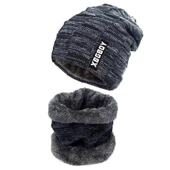 Suweir Winter Set (Strickmütze + Schal) in verschiedenen Farben ab 4,99€ inkl. Prime Versand