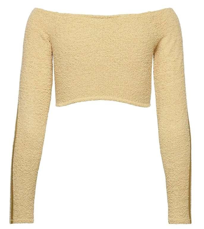 Adidas Performance Crop Top Pullover in Beige für 11,96€ inkl. Versand (statt 20€)