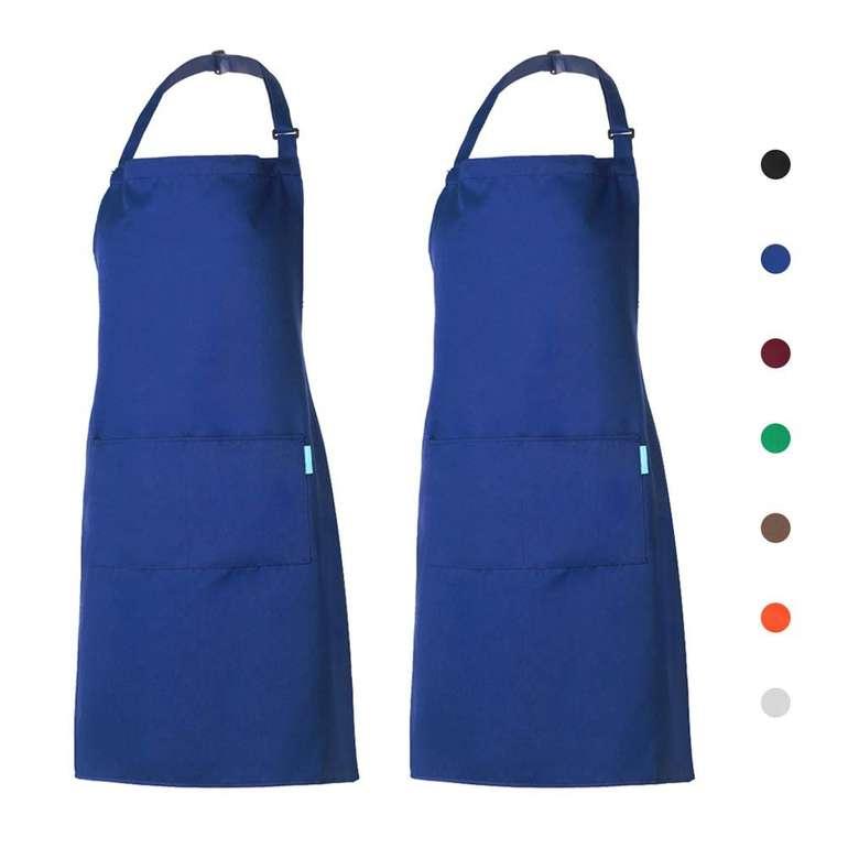 2er Pack esonmus Kochschürzen mit 2 Taschen ab 9,87€ inkl. VSK (statt 13€)