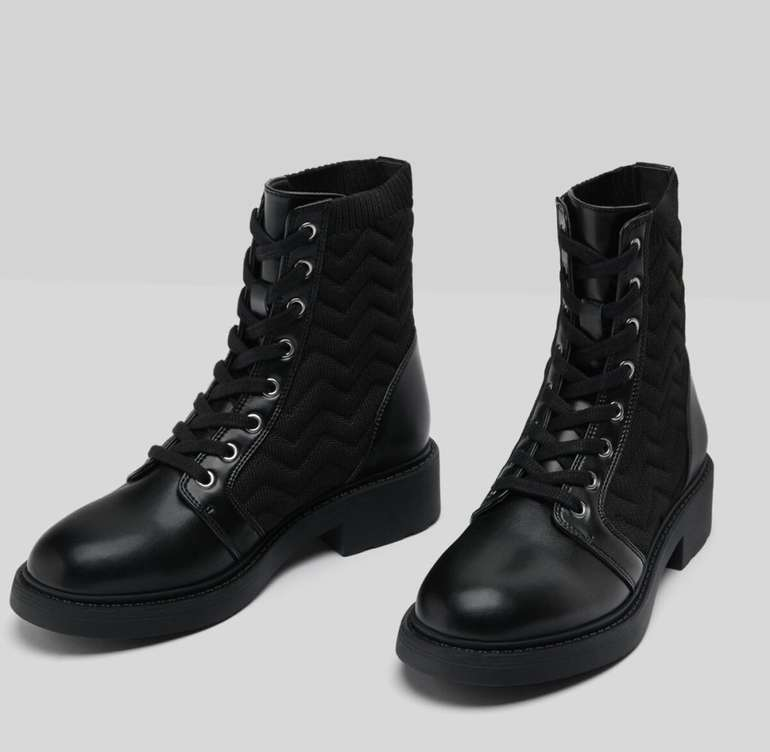 Bershka Damen Stiefeletten mit Gewebe im Sock-Boots-Style für 19,54€ inkl. Versand (statt 36€)