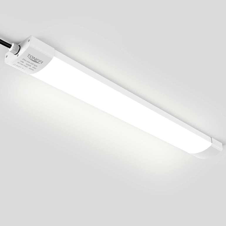 Tonffi LED Feuchtraumleuchte (60 cm, 18W, IP65) für 14,87€ inkl. Prime Versand (statt 25€)