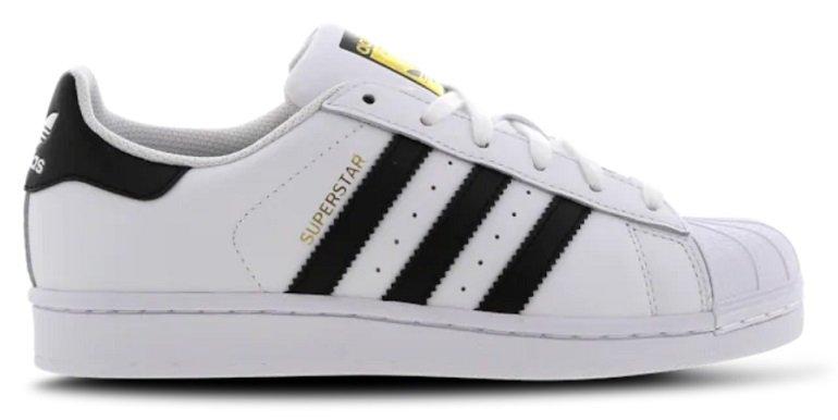 Foot Locker Sale mit bis -50% Rabatt + VSKfrei ab 29,99€ - z.B. adidas Superstar 2 (Grundschule) für 39,99€