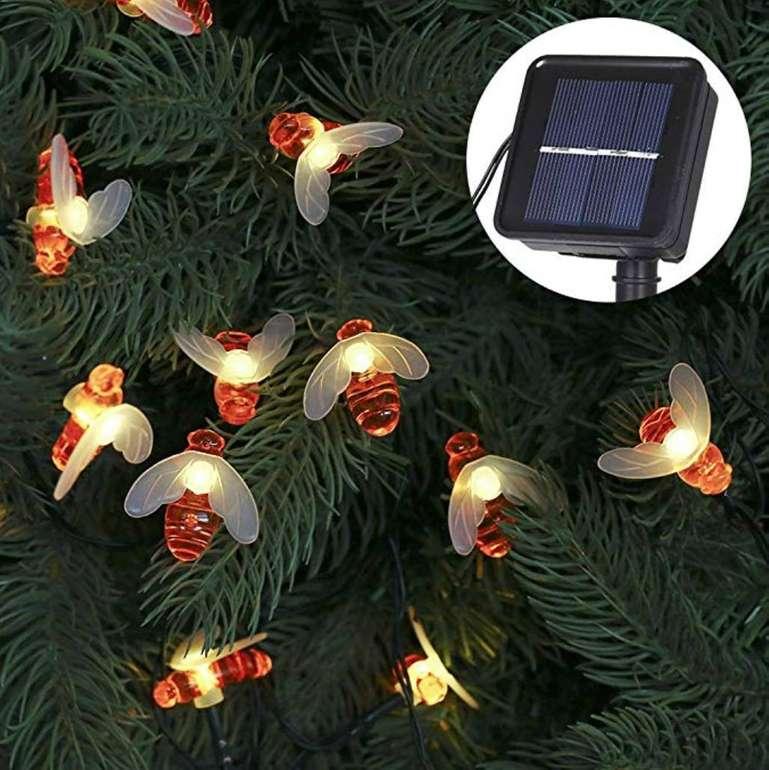 Tomshine LED Solar Bienen Lichterkette (6,3m, 30 LEDs, IP65-Schutz) für 8,99€ mit Prime