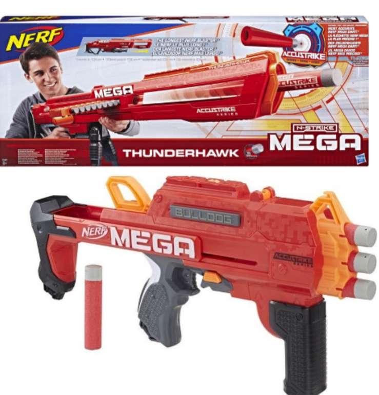 Bundle: Nerf Mega Thunderhawk Blaster + Nerf Mega Bulldog Blaster für 29,99€ inkl. Versand (statt 55€)