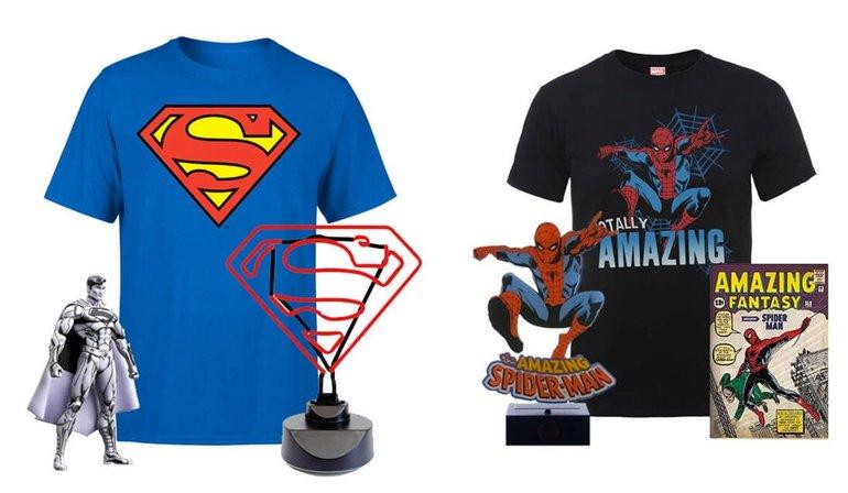Superman Fan Paket 34,99€ & Spiderman Fan Paket 22,99€