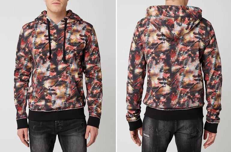 Tigha Meeon Hoodie mit Allover-Muster 2