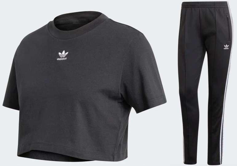 Adidas Originals Damen Outfit bestehend aus Crop Top & Jogger für 51,10€ inkl. Versand (statt 73€)