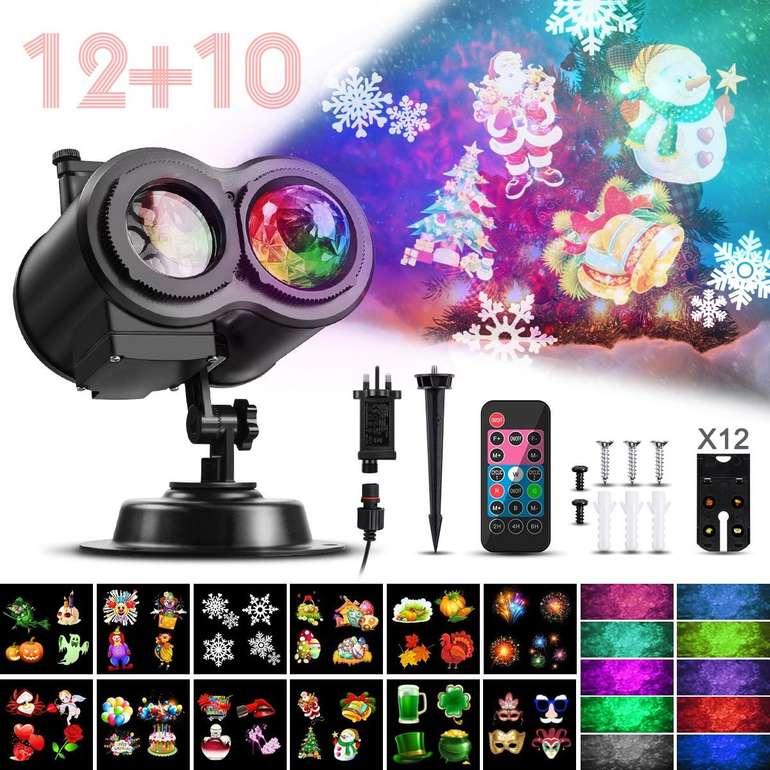 Camtoa LED-Projektionslampe mit wechselbaren Weihnachtsmotiven (wasserfest) für 18,69€ inkl. Prime VSK