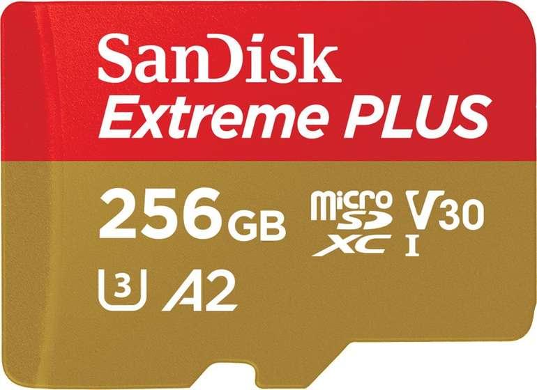 SanDisk Extreme Plus A2 256GB Micro-SDXC Speicherkarte für 39,99€ inkl. Versand (statt 47€)