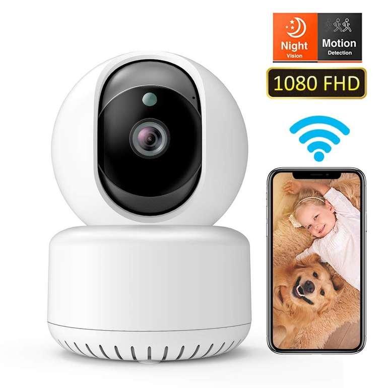 Dadypet WLAN FullHD 1080P IP-Kamera mit Nachtsicht, Bewegungsmelder & 2-Wege Audio für 25,70€