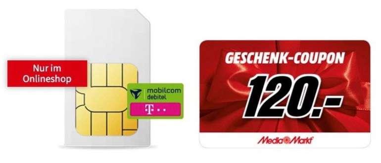 Telekom 10GB LTE mit bis zu 150 Mbit/s für eff. 5,15€ durch 120€ Media Markt Coupon