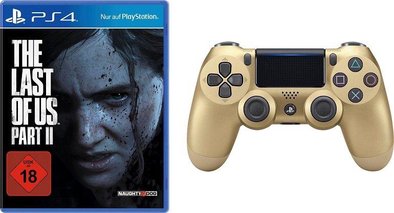 The Last of Us Part II (PlayStation 4) inkl. Dualshock Wireless Controller gold für 69€ (statt 94€)