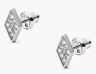 "Fossil Damen Ohrstecker ""Diamond"" für 10€ inkl. Versand (statt 21€)"